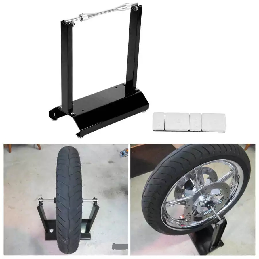 Motorcycle Static Wheel Balancer Tire Stand Street Truing Stand Universal 4 Foot