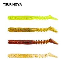 TSURINOYA Fishing Lure Soft Bait R32 70mm 2.35g T Tail Worm Baits Artificial Bait Plastics Swimbait 10pcs/bag