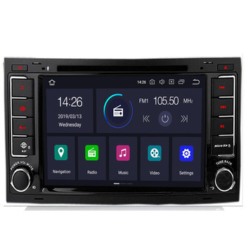 Car Multimedia Player Android 10 8 core 2Din DVD AutoRadio For VW Volkswagen Touareg Transporter T5 GPS Navigation Audio2G RAM image
