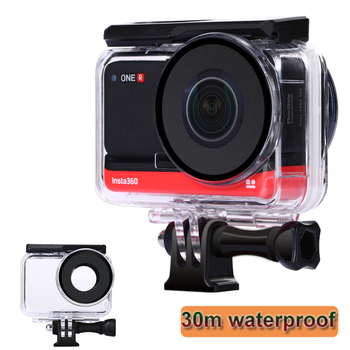 30m High Light Transmission Waterproof Case for Insta360 ONE R Dual Lens Panoramic Diving House Shell Cover for Insta360 ONE R