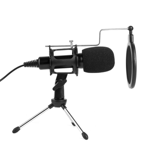 Image 4 - Video Microphone Kit USB Plug Home Stereo Condenser MIC Desktop Tripod for PC YouTube Video Skype Chatting Gaming Recording