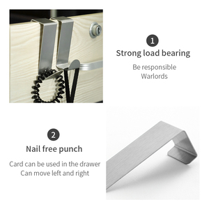 Image 4 - 2PCS Multipurpose Stainless Steel Door Hook For Kitchen Bathroom Cabinet Clothes Towel  Home Storage Hanger Hooks Holder