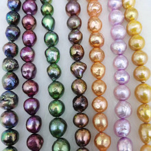 Natural Freshwater Pearls Baroque Pearl Beads Making For Jewelry Bracelet Necklace Party Accessories For Women Size 9.5-12mm 2020 natural freshwater pearls rice shaped pearl agates beads bracelets jewelry accessories party for women gift length 19cm