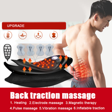 Lumbar Traction Device Posture Corrector Waist Back Pain Relief Massager Vibration Massage Spine Support Stretcher