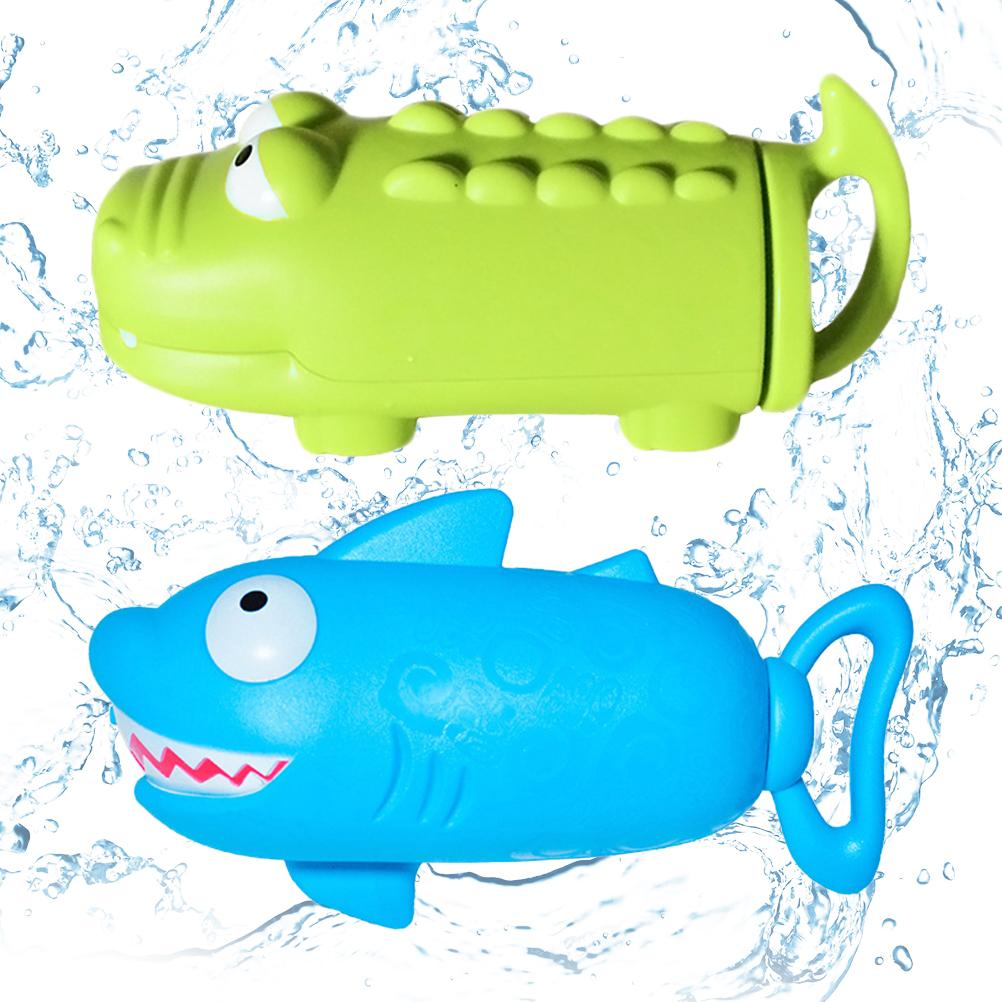 Children's Water Guns Shark Crocodile Air Pressure Toys Water Bullet Bathroom Play Toys Outdoor Toys for Kids Gifts