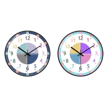 2021 New Educational Wall Clock for Children Kid's Teaching Clock Learn to Tell Time