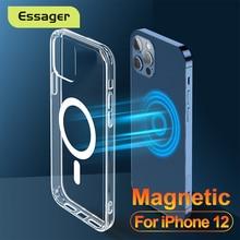 Essager – Étui antichoc magnétique transparent pour téléphone Apple, pochette de protection pour iPhone 12, 11 Pro Max Mini, 12Pro Max,