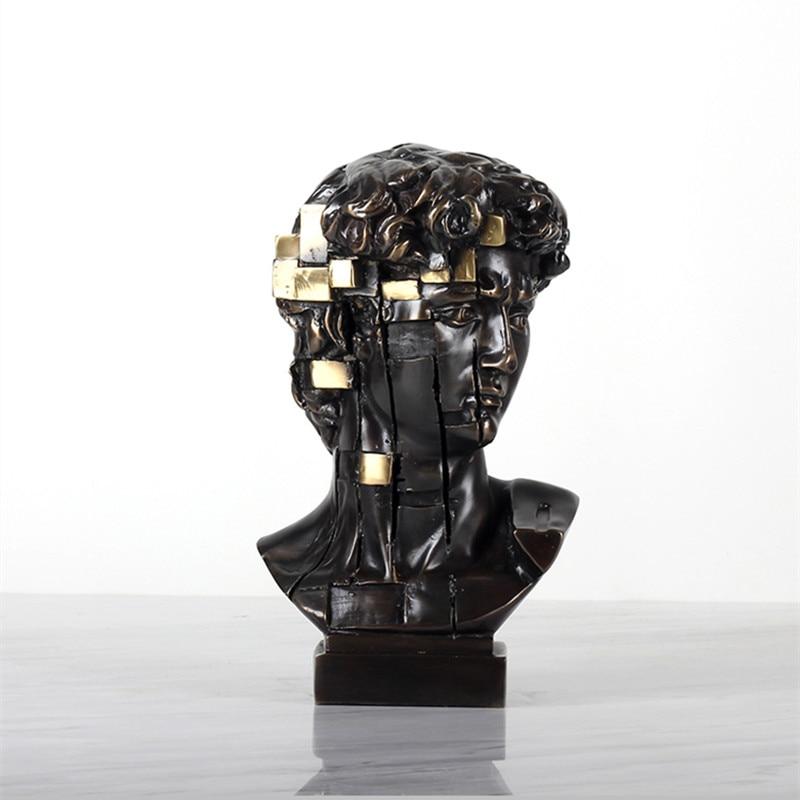 Modern Simple David Art Sculpture Giuliano De' Medici Agrippa Statue Creative Copper Craft Desktop Decorations For Home R3635