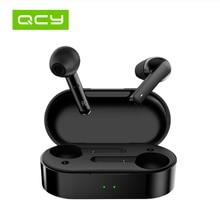 QCY T3 TWS טביעת אצבע מגע אלחוטי אוזניות Bluetooth V5.0 כפול מיקרופון ספורט אוזניות עבור כל טלפונים