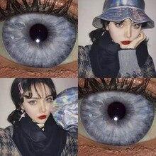Taylor dna eo design bonito cinza cor lente de contato lentes de contato caso livre