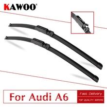 KAWOO для Audi A6 C5 C6 C7 4F от 1997 до Авто щетки стеклоочистителя из натурального каучука подходят к крючкам/слайдеру/когтям/кнопкам