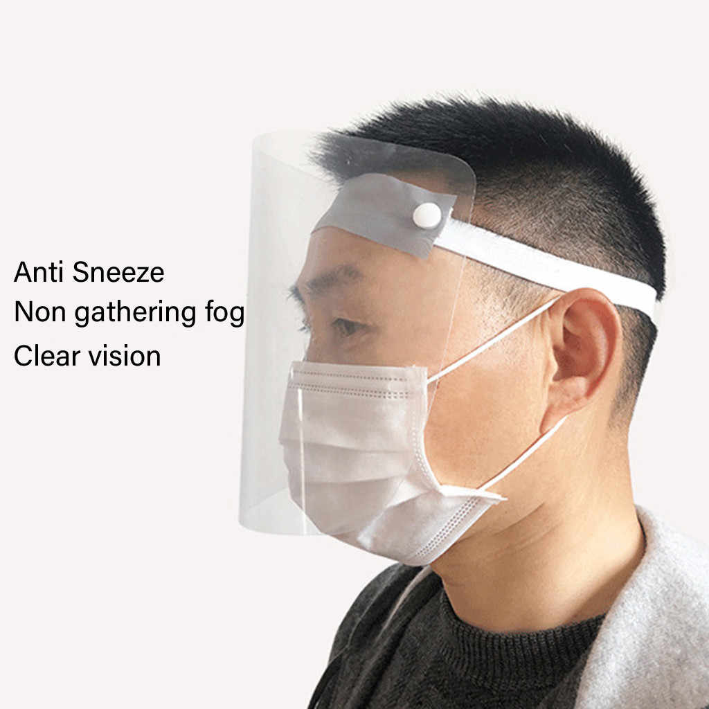 1pc Protective Adjustable Anti Droplet Dust-proof Full Face Cover Mask Visor Shield Droplet Viru Windproof Face Shield Wash #y3