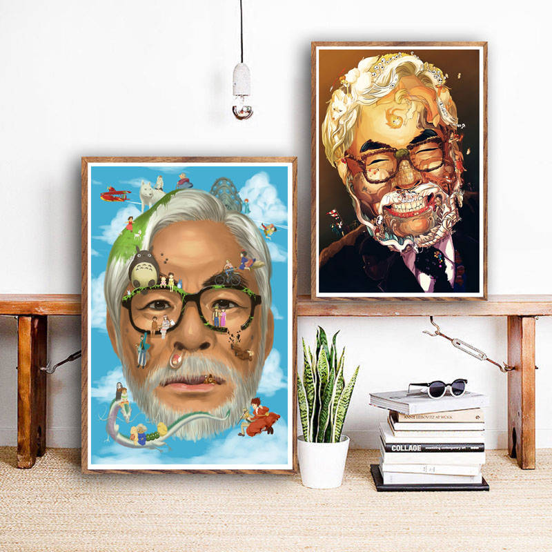 Hayao Miyazaki Movie Collection Great Director Art Canvas painting Poster Wall Home Decor image