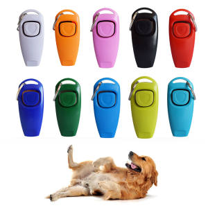2019 New Dog Training Whistle Clicker Pet Dog Trainer Help Guide With Key Ring Drop Shipping Treat Bags Dog Supplies