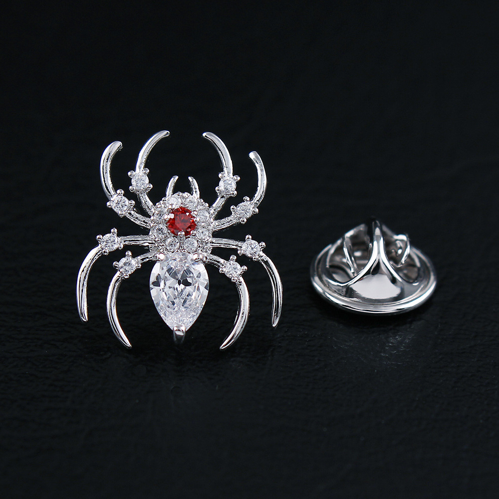 Creative Brooch Pin Stone red spider small brooch with brooch jewelry Badge Pin Lapel Pin