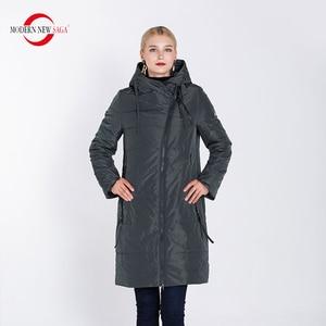 Image 4 - מודרני חדש סאגת 2020 סתיו נשים מעיל חם ארוך מעיל סלעית חורף Parka נשים גבירותיי חורף מעיל מוצק רוכסן אישה מעיל