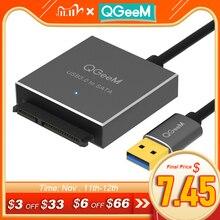 Адаптер QGeeM SATA USB, кабель USB 3,0 2,0 к Sata, конвертер для Samsung Seagate WD 2,5 3,5 HDD SSD жесткого диска, USB Sata адаптер