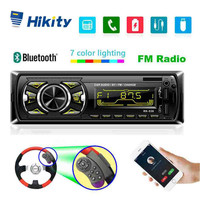 Hikity 1 din Car Radio Bluetooth Autoradio MP3 Multimedia Player FM Aux Input Receiver USB With Steeing Wheeling Remote Control