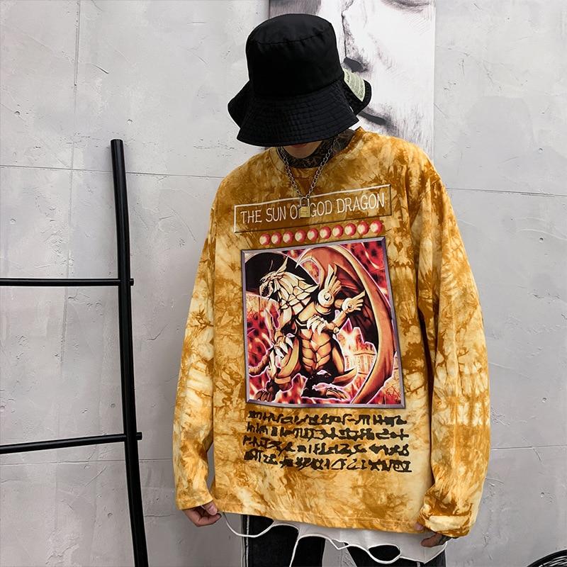 2020 Big さんげんしん Print Sweatshirt Harajuku Streetwear Hip Hop Casual FUll Sleeve Women Men Hipster Summer 2020 Tops