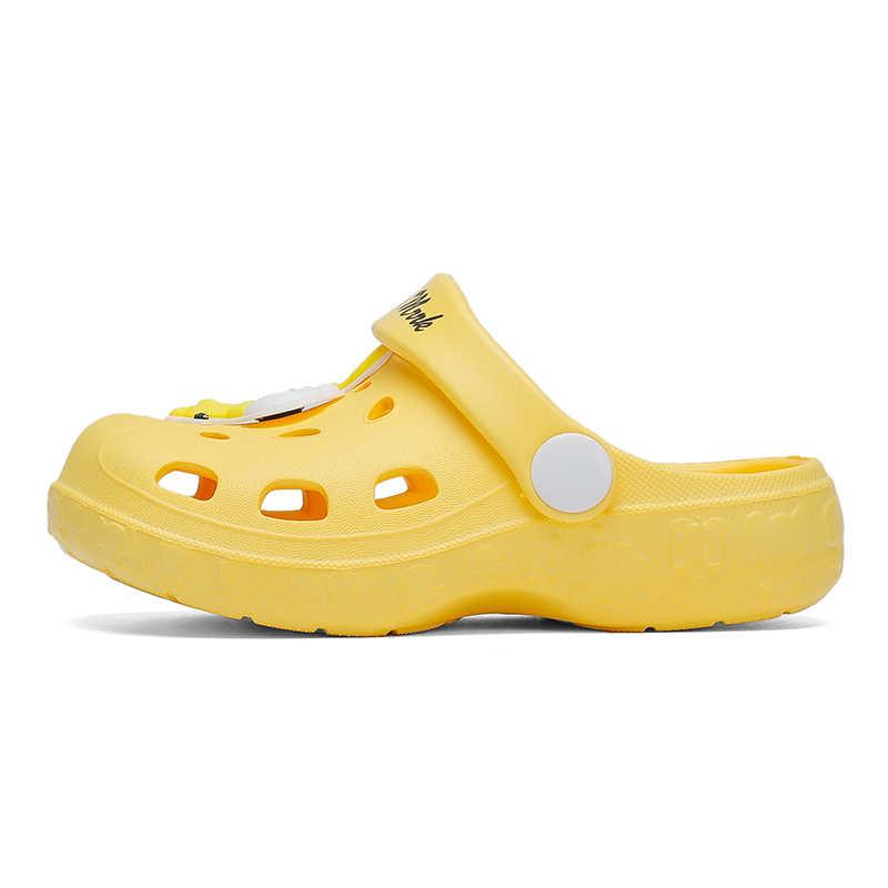 ฤดูร้อนแฟชั่นCrocseเด็กสวนClogsรองเท้าBoys & Girlsรองเท้าแตะชายหาดเด็กน้ำหนักเบาBreathableนุ่มล่อ