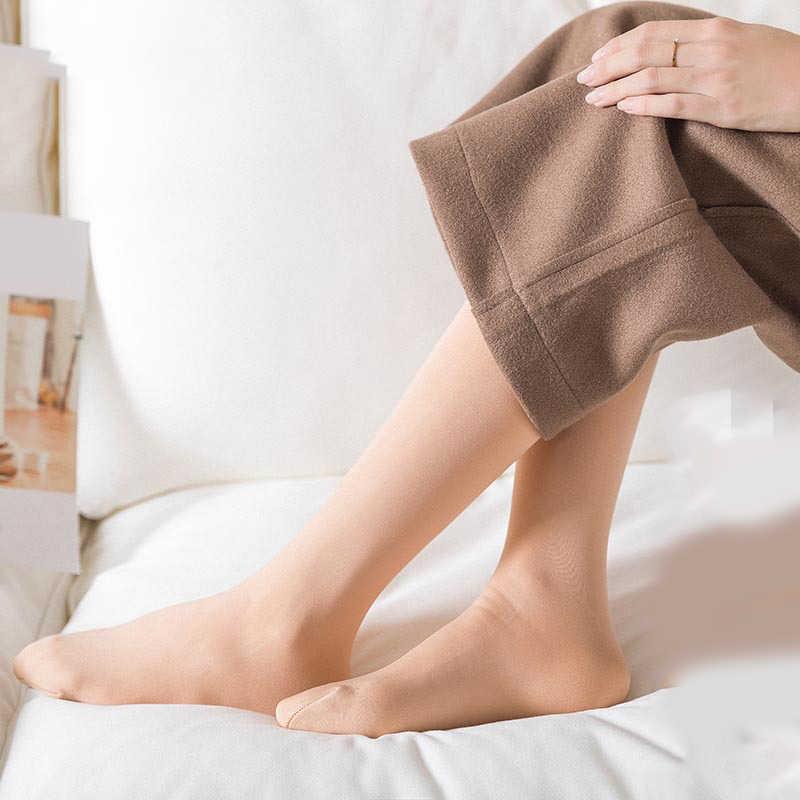 2019 Mùa Đông Ấm Áp Dày Nữ Nhiệt Cashmere Tuyết Vớ Unisex Liền Mạch Nhung Giày Tầng Nữ Dưới Đầu Gối Vớ Dài