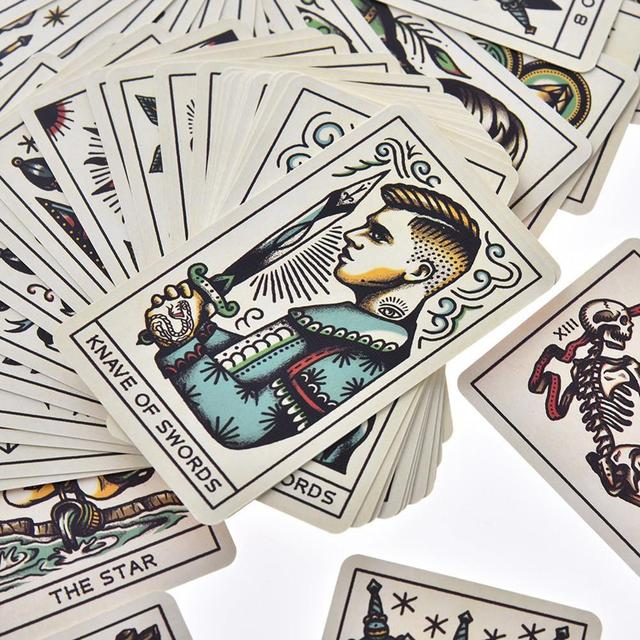 78pcs Tattoo Tarot Cards Full English Board Game Tarot Card Deck Family Party Entertainment Game Playing Cards PDF Instructions 3