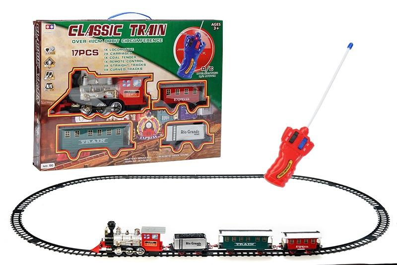 Electric Light And Sound Remote Control Rail Train Model Model Classic Steam Train CHILDREN'S Toy Set