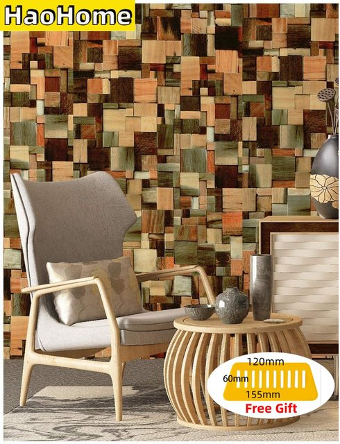 Mega Discount 63db0b Haohome Wood Pattern Peel And Stick Wallpaper Multi Color Vinyl Self Adhesive Contact Paper Home Decor For Living Room Decor Cicig Co