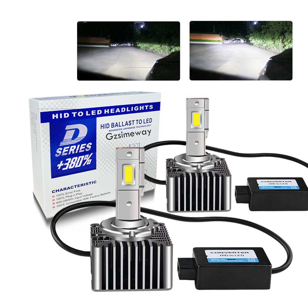 2 pces lâmpada do carro d3s led d1s d5s d8s d4s canbus bulbo auto headligt d2r d4r alta potência 70w 15200lm kit led para substituir hid conversão|Lâmpadas do farol do carro (LED)|   -