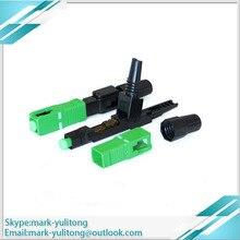 100 pièces FTTH monomode SC APC connecteur rapide connecteur à fibres optiques connecteur rapide
