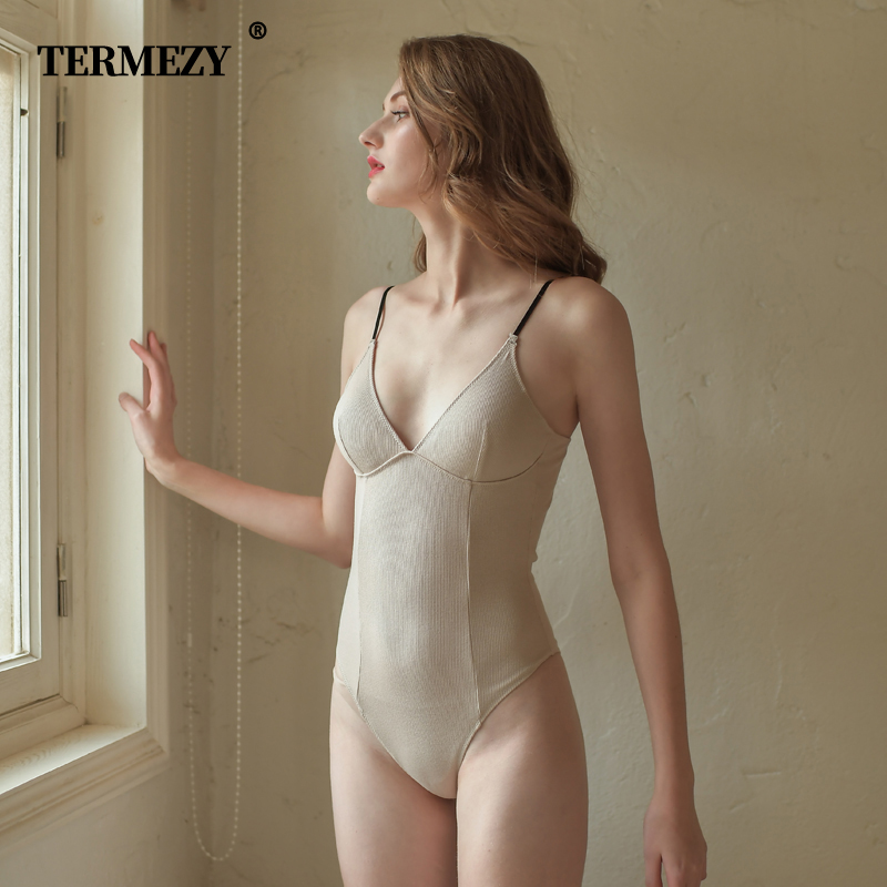 TERMEZY Sexy Lingerie Women Underwear Striped Cotton   Corset   and   Bustier   Push Up Bra Sexy Charming   corset   for women
