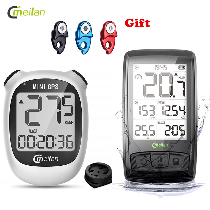 Meilan Wireless Cycling <font><b>Computer</b></font> Navigation Waterproof Bicycle Odometer <font><b>With</b></font> LCD Display <font><b>GPS</b></font> <font><b>Bike</b></font> <font><b>Computer</b></font> Odometer Accessories image