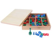 Wooden Montessori Math Toy Kids Baby Early Educational Toy Set Stamp Game