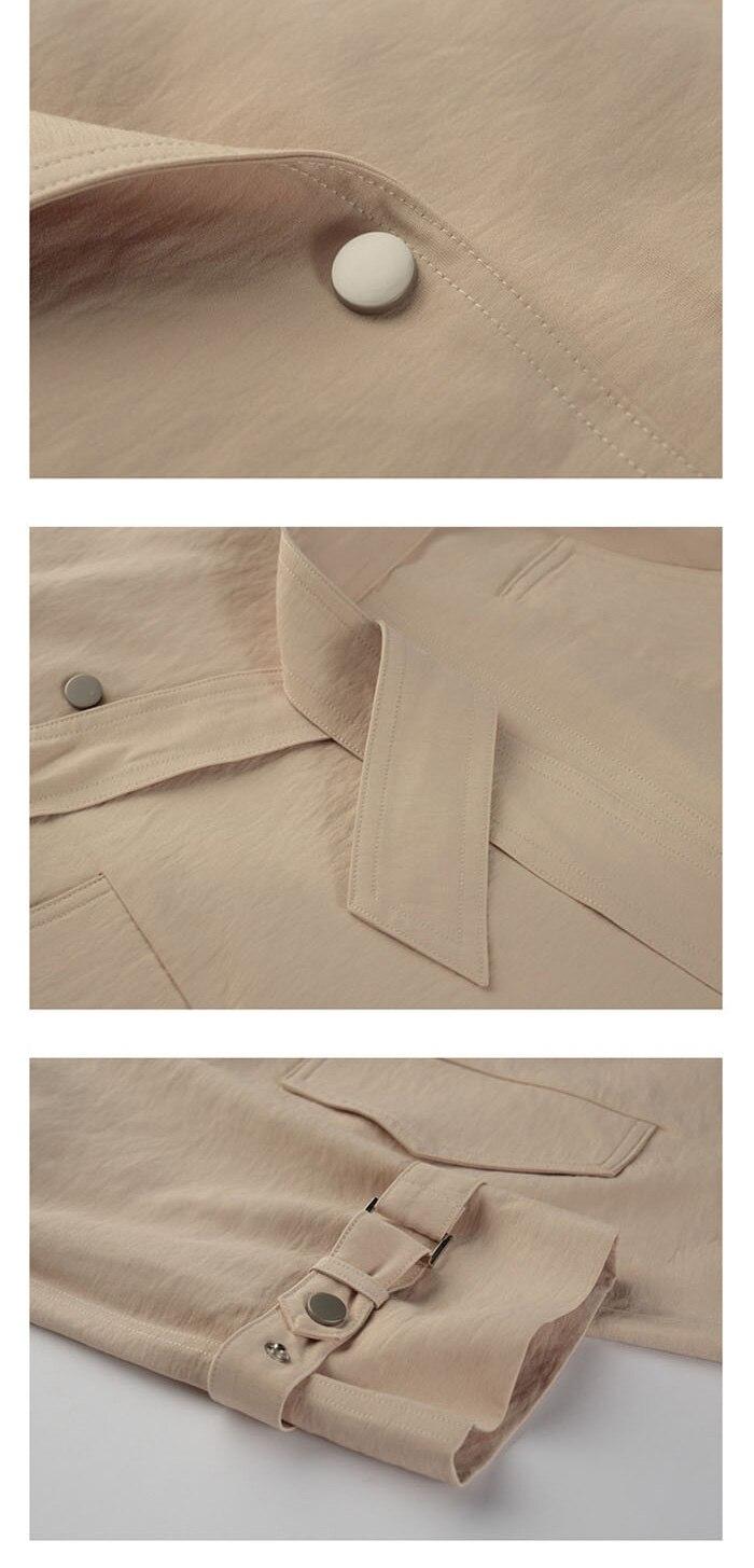 Turn Down Collar Trench Coats Feminino Casual Longo Trench