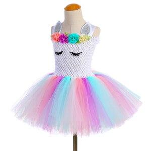 Image 5 - Pastel Bé Gái Kỳ Lân Tutu Đầm Với Đầu Cánh Bộ Trang Phục Hoa Trẻ Em Bé Gái Công Chúa Kỳ Lân Sinh Nhật Đầm Trang Phục