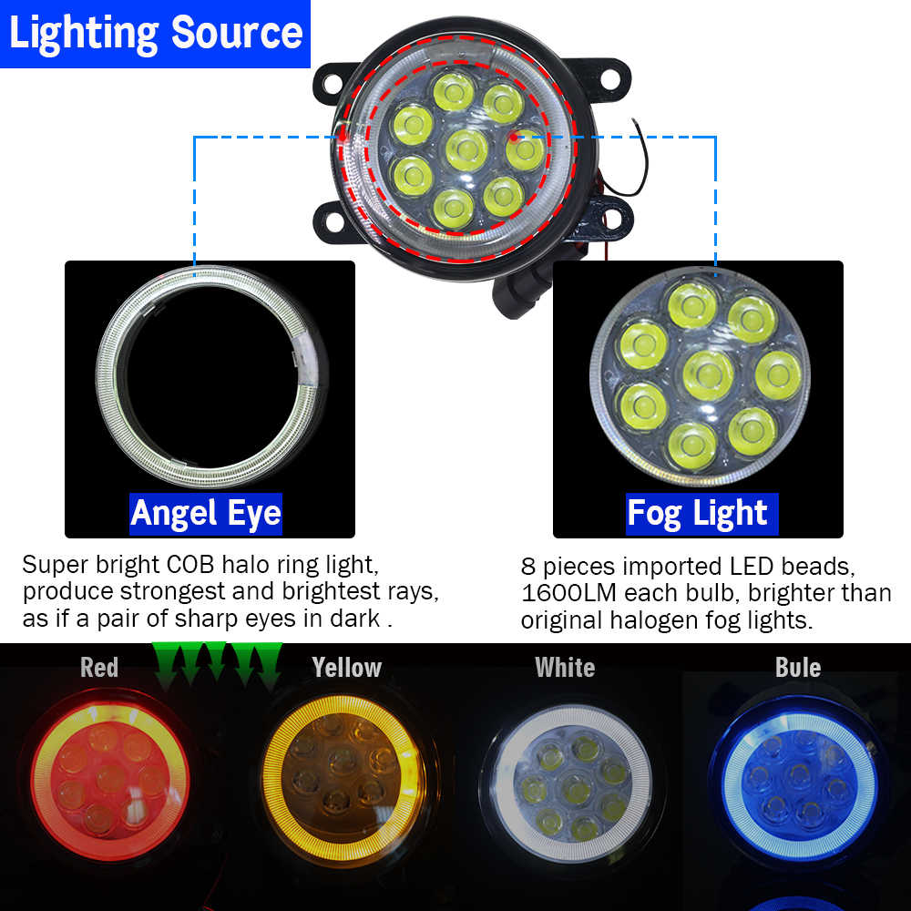 Cawanerl 2 parça araba LED lamba sis lambası melek göz gündüz farı DRL 12V Styling için Citroen C6 TD _ Saloon 2005-2015
