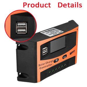 Image 5 - Contrôleur de Charge solaire USB LCD affichage 12V/24V 30A 40A 50A 60A Auto solaire panneau chargeur régulateur batterie au Lithium bricolage