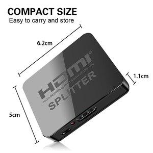 Image 2 - Hdmi dağıtıcı 1 in 2 out 1080p 4K 1x2 HDCP striptizci 3D Splitter güç sinyal amplifikatörü 4K HDMI dağıtıcı HDTV DVD için PS3 Xbox