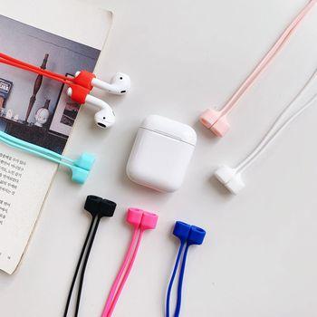 Pour airpods sans fil écouteur silicone Anti-perte lanière pour airpods i12 i9s tws i7 i10 i11 i30 magnétique Anti-perte sangle de couverture