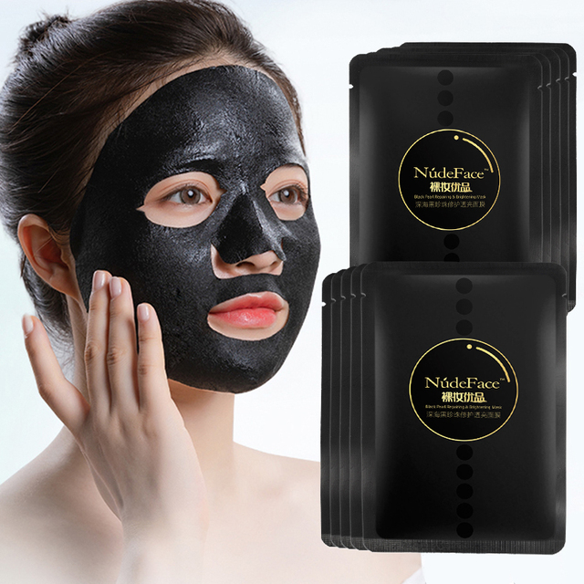 Sheet Mask Korean Cosmetics Makeup Remover Blackhead Acne Treatment Skin Care Organic Korean Face Mask Anti Aging Whitening 4
