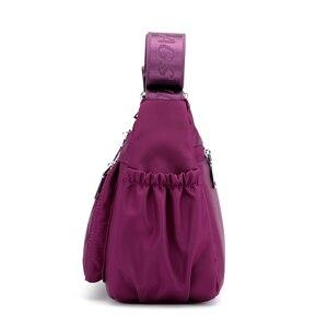 Image 2 - נשים ניילון כתף שקיות תיק גבירותיי נווד Tote Crossbody תיק ארנק תכליתי רב שכבה למעלה ידית שליח שקיות