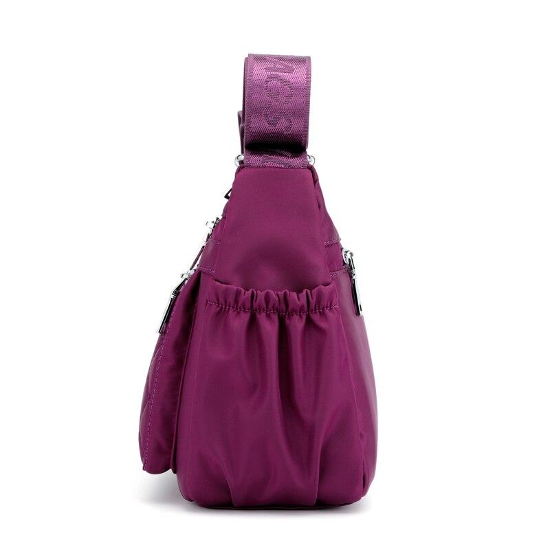 Image 2 - Women Nylon Shoulder Bags Handbag Ladies Hobo Tote Crossbody Bag Purse Multifunction Multi layer Top handle Messenger BagsTop-Handle Bags   -