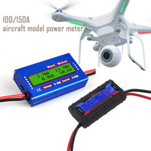 100a 150a tela lcd digital wattmeter alta precisão medidor de energia rc watt medidor equilíbrio tensão bateria balanceador carregador ferramentas