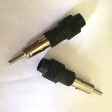 Auto Car Radio AM/FM Antenna Adapter Male Plug Connector Black