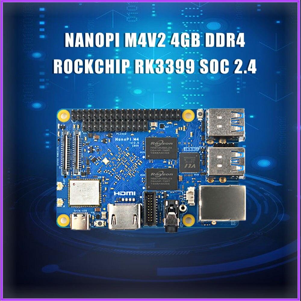 NanoPi M4V2 4GB DDR4 Rockchip RK3399 SoC 2.4G & 5G dual-band WiFi,Support Android 8.1 Ubuntu, AI and deep learning