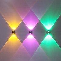 Up down lâmpada de parede 3 w 6 moderno arandela luzes led iluminação interior luminária para cabeceira sala estar quarto parede luz
