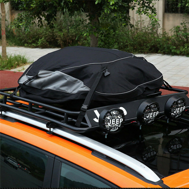 160x110x45cm Universal Waterproof Car Roof Top Rack Bag Cargo Carrier 16