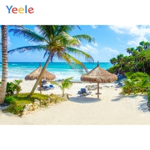 цена на Yeele Seaside Summer Holiday Wedding Bench Sunbathing Photography Backgrounds Customized Photography Backdrops For Photo Studio