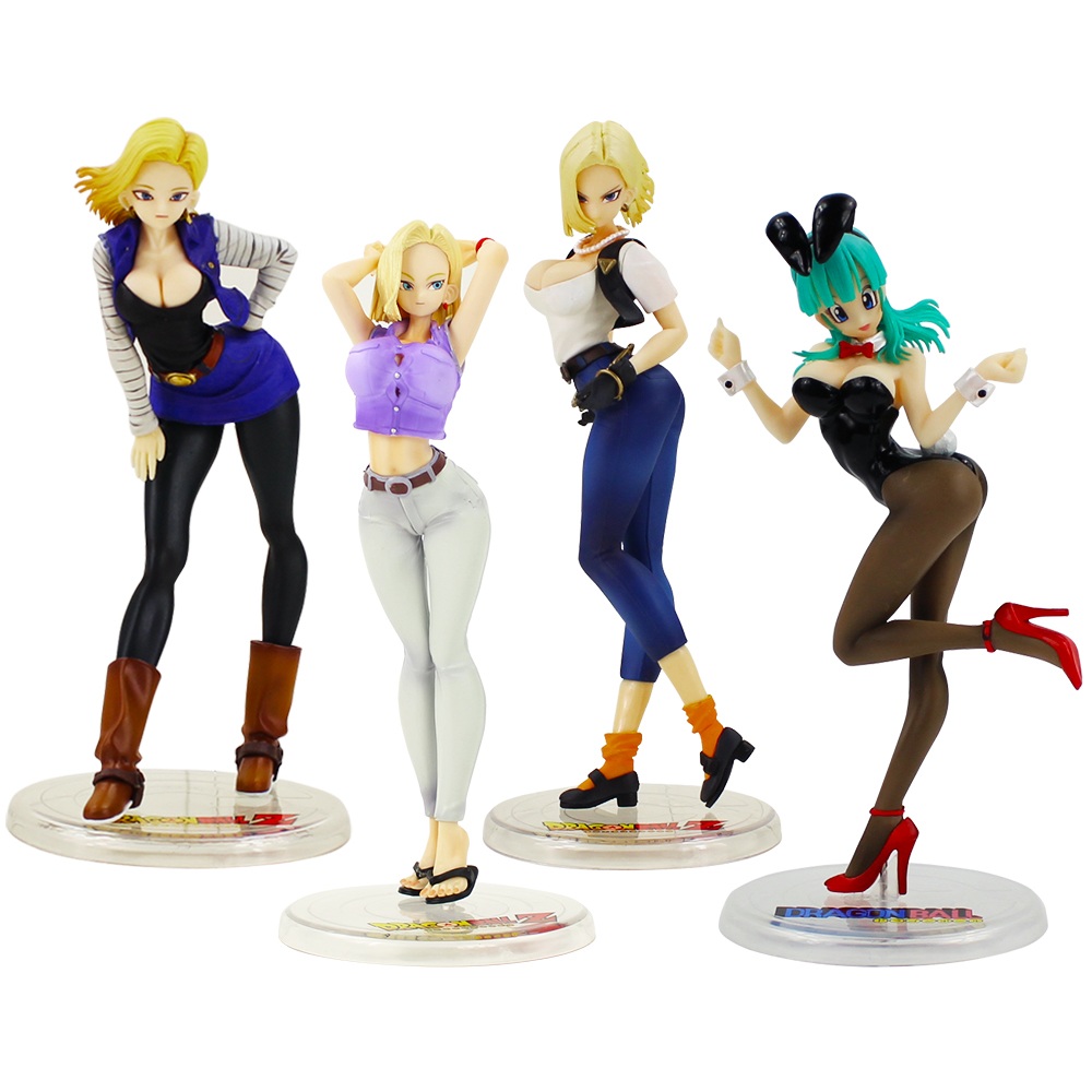 Anime Figure Dragon Ball Android 18 Lazuli 20cm PVC Doll Model Collection Toys