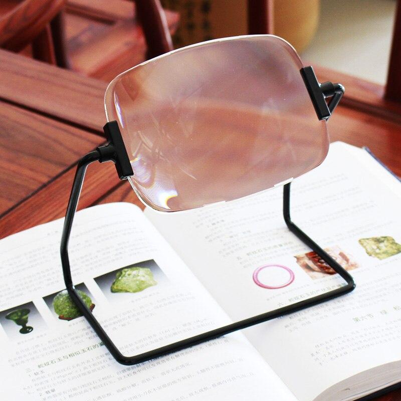 Support Stable bijoux identifier aider loupes personnes âgées lecture loupe avec support et acrylique optique Seet 2x